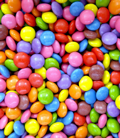 candy smarties M&Ms chocolate confectionary