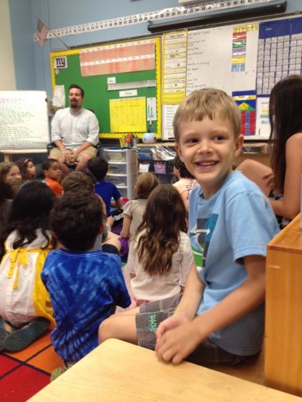 child inside NYC public elementary school