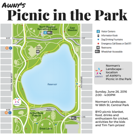 AWNY Picnic in the Park map June 26