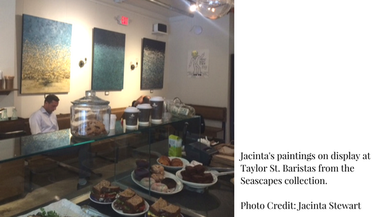 Taylor St Baristas Jacinta Stewart Seascapes paintings