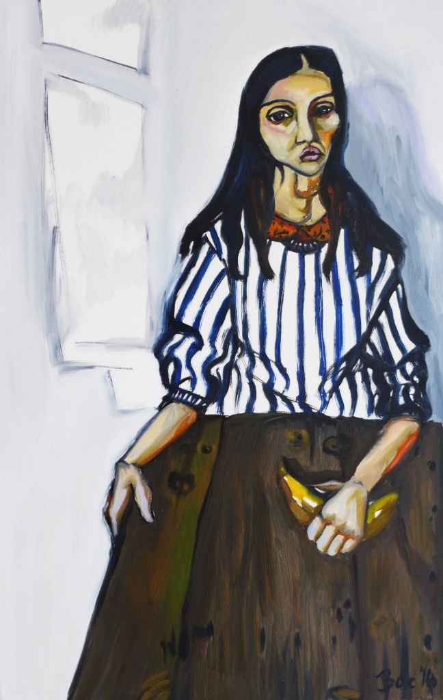 Girl And Her Banana, Courtney Bae, Oil on Canvas, 30x20.jpg