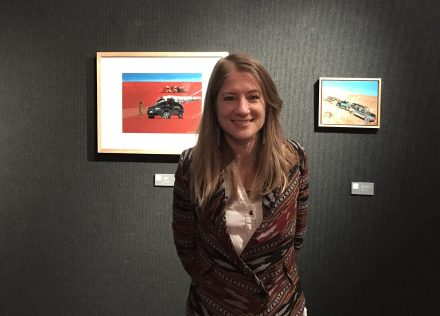 Libbett Loughnan with some of her work.