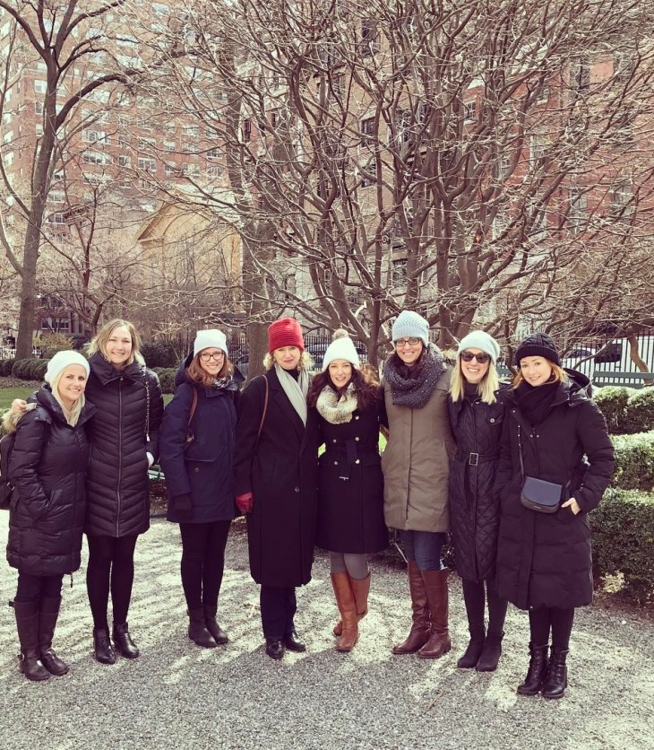 Australian women at Gramercy Park New York