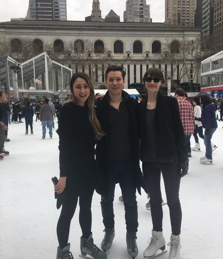 ice skating at Bryant Park Winter Village