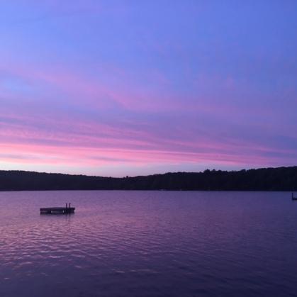 Sunset in The Catskills Upstate New York