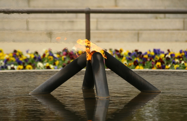 Anzac Day eternal flame Kings Park Memorial Perth WA