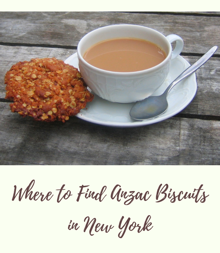 Anzac biscuit cup of coffee