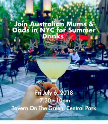 Summer drinks at Tavern on the Green Central Park New York City