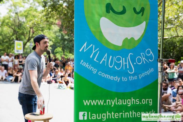 comedian at Laughter in the Park