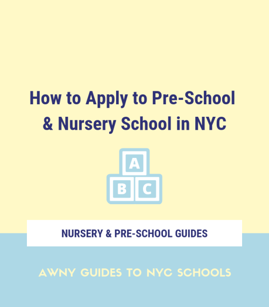 NYC pre-school nursery school application early childhood