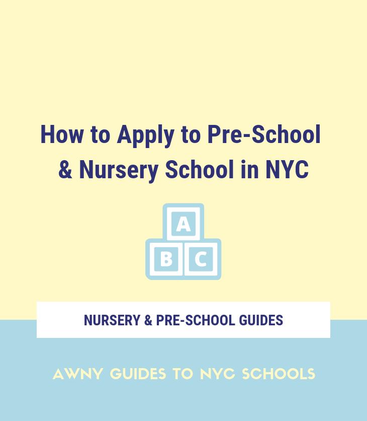NYC pre-school nursery school application early childhood