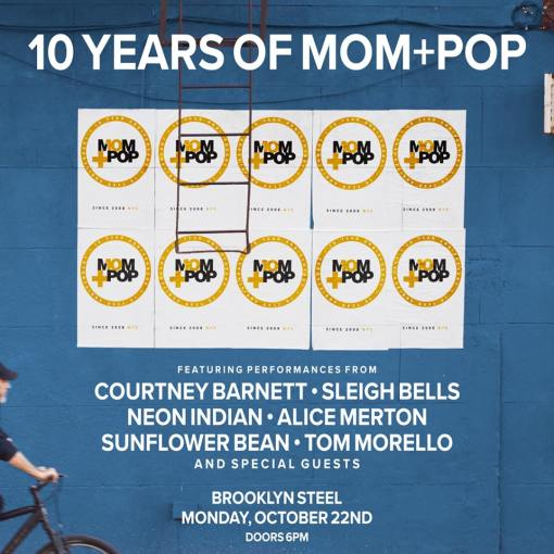 10 years of Mom + Pop event at Brooklyn Steel