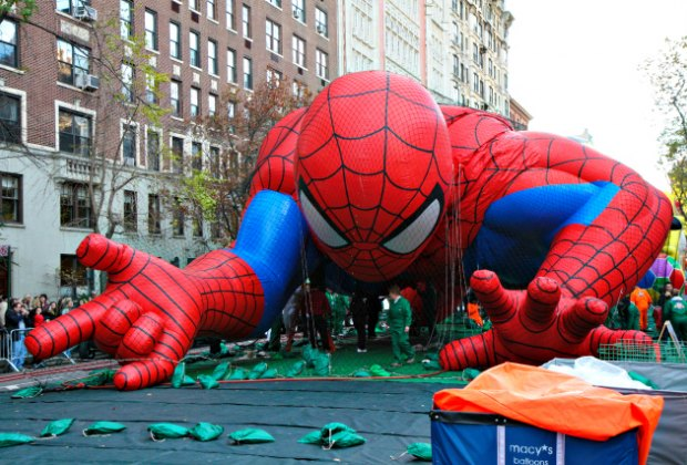 Macy's Thanksgiving float of Spiderman