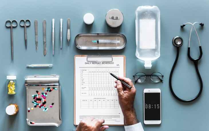 assorted doctors tools