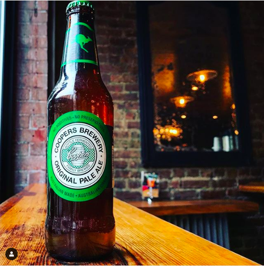 Aussie beer Coopers bars New York