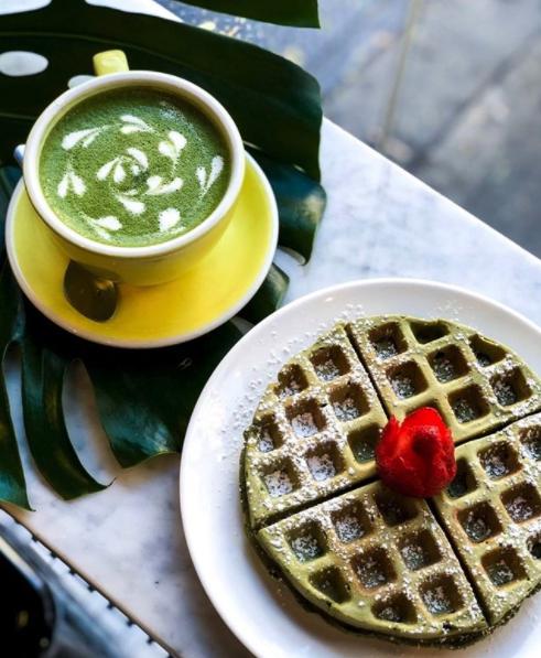 Wattle Cafe Matcha Waffles