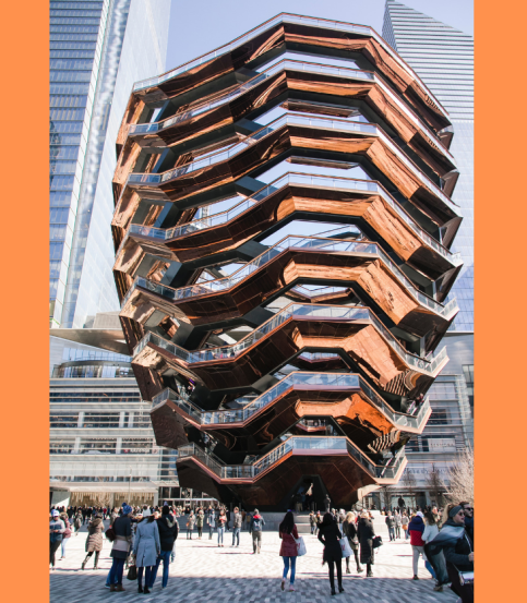 stairway sculpture public art Hudson Yards The Vessel New York