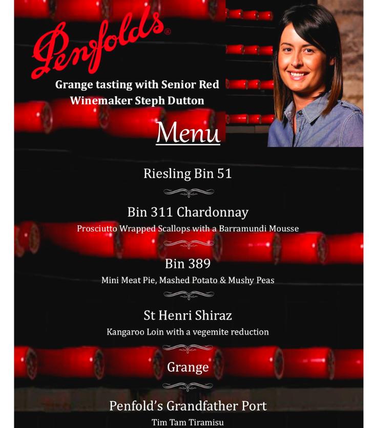 wine tasting restaurant bar Australian