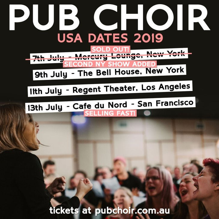 Pub Choir Australian women singers in New York