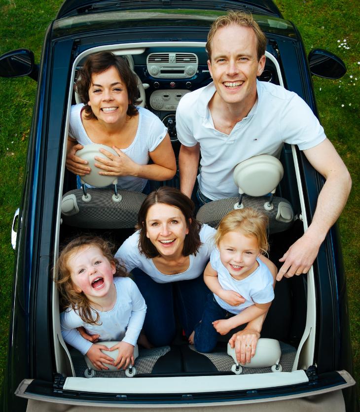 family car road trip kids parents