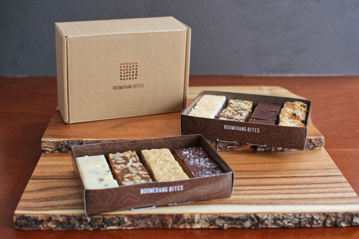 catering boxes of Australian baked goods in New York and New Jersey by artisanal bakery Boomerang Bites