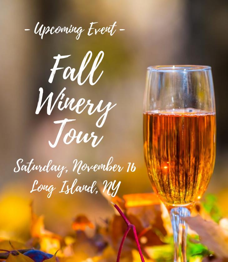 fall wine glass winery tour Long Island