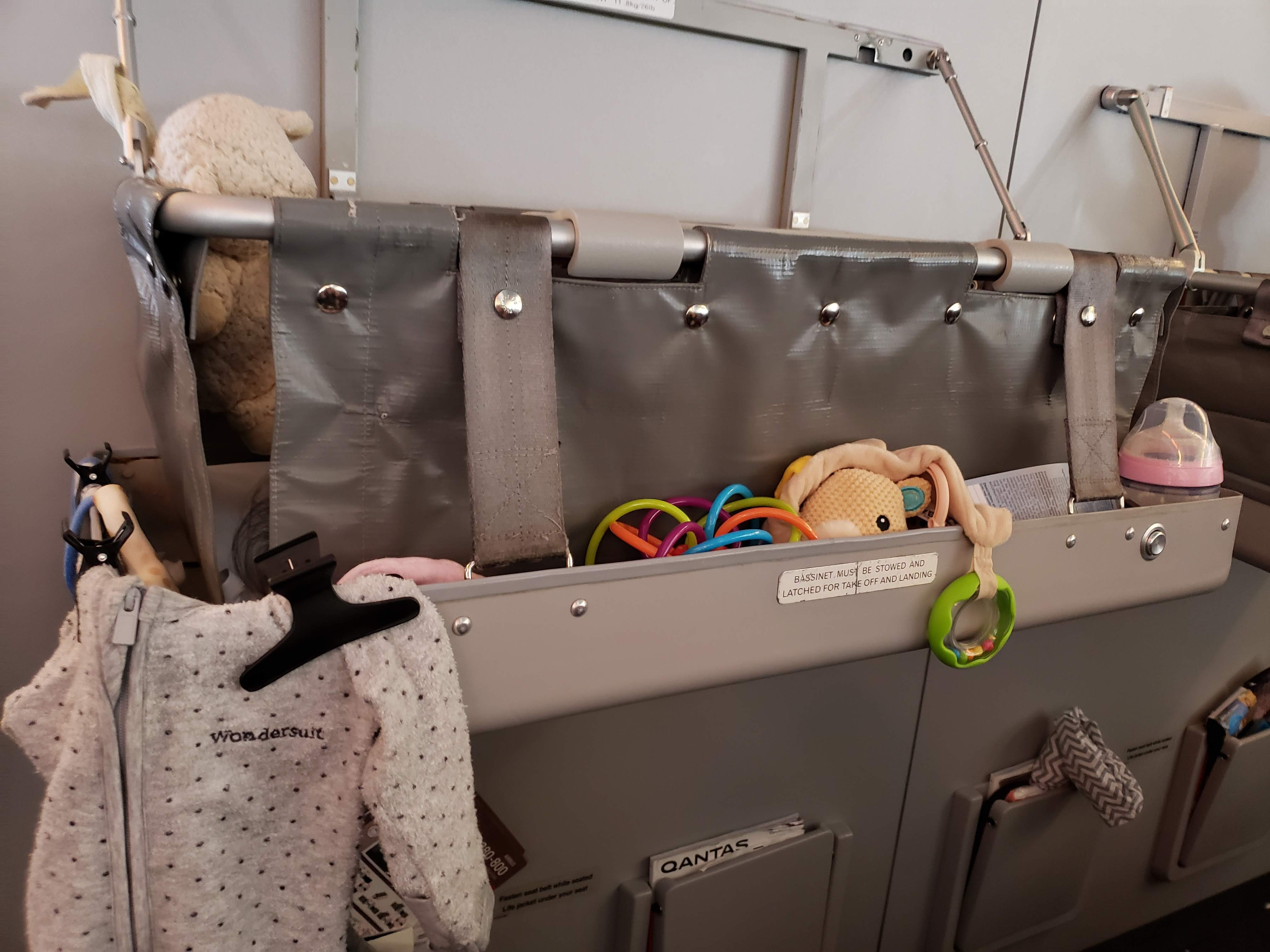 airplane bassinet seat when flying with infants