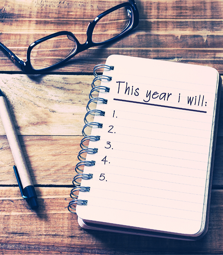 journal of New Year resolutions