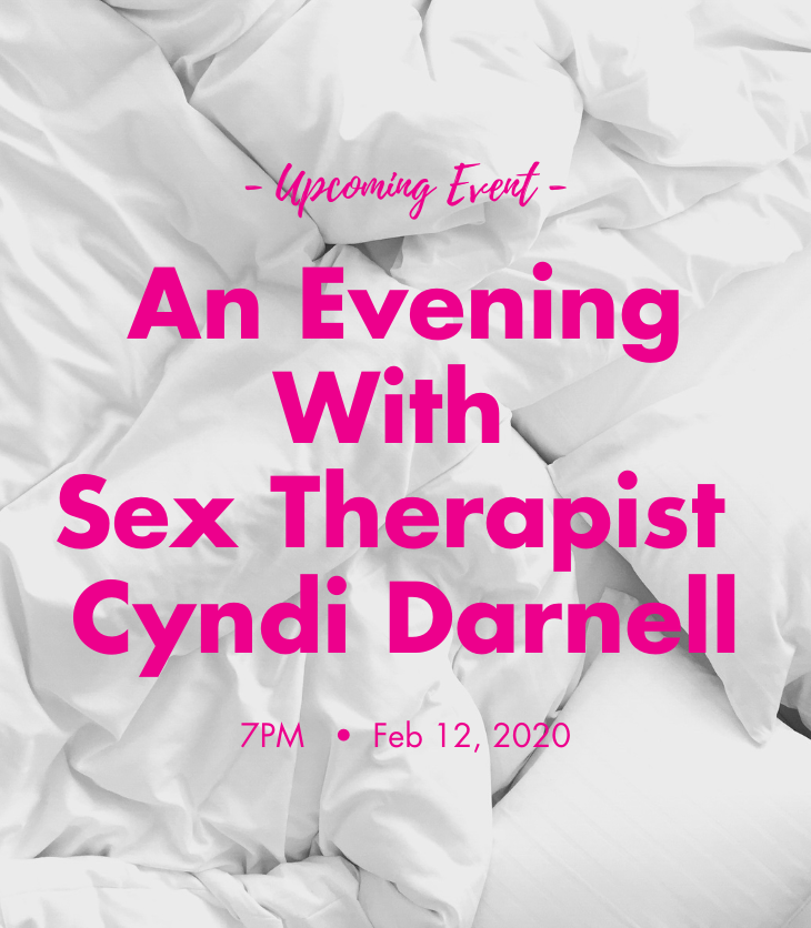 bed sheet discussion with sex therapist Cyndi Darnell